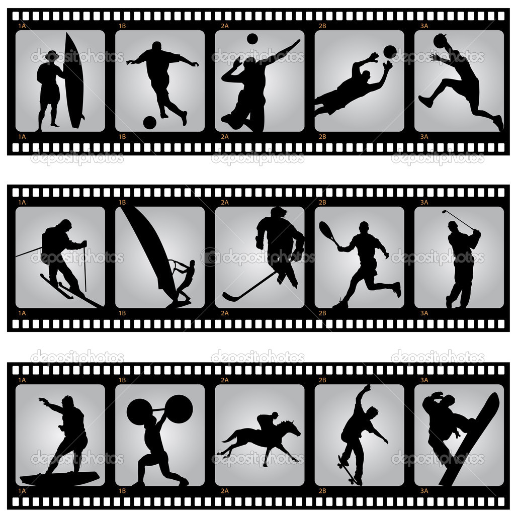 Set of sport filmstrip scene  Stock Vector #6673050