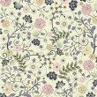 Floral seamless pattern, vector design - Stockvektor