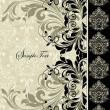 Royalty-Free Stock Imagem Vetorial: Vintage floral invitation card