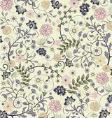 Floral seamless pattern, vector design — ストックベクタ