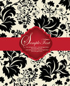 INVITATION CARD ON FLORAL BACKGROUND — Vecteur
