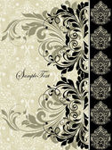 Cartão do convite floral vintage — Vetorial Stock