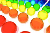 Colorful glass spheres — Stock Photo