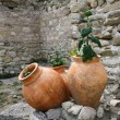 Stock Photo: Three old amphorae