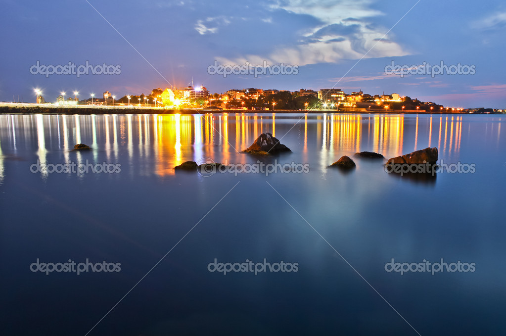 Night over the sea in Nessebar — Stock Photo #6728702