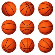 Постер, плакат: Different positions of basketballs