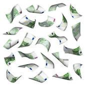 Hundred euro bills falling — Stock Photo
