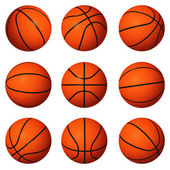 Different positions of basketballs — Stock Photo