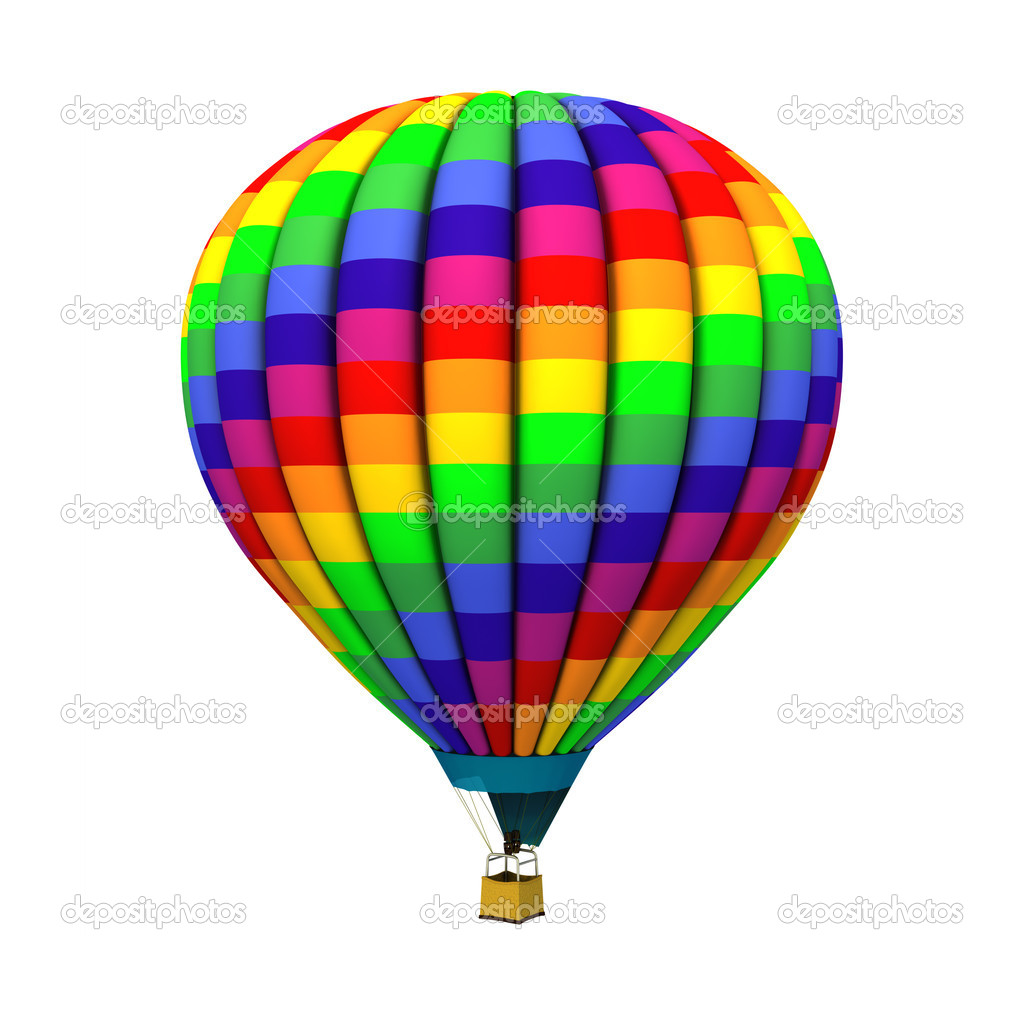Hot air balloon isolated on white background. — Stock Photo #6703919