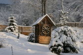 Draw-well in the winter garden — Stockfoto