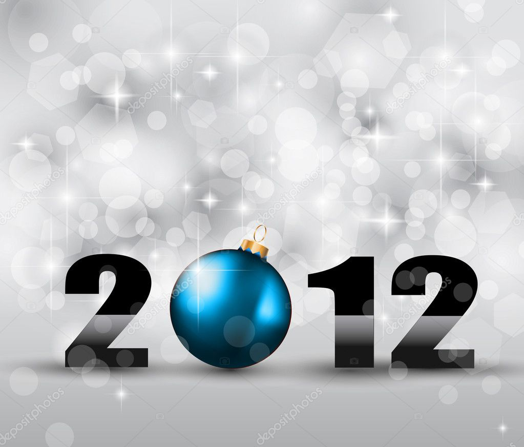 2012 New Year Celebration Background with Glitters and a lot of stars and lights suggestive effect.  Stock Photo #6675369
