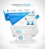 Origami Website - Elegant Design for Business — Stock Vector