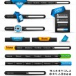 Set of modern original style search banners and web headers — Stock Vector