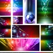 Stock Vector: Flow of lights set 5