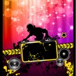 Disco Event Poster with a Disk Jockey — Stock Vector #6707713
