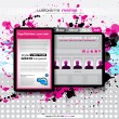 Hi tech and grunge style business website template for stylish blogs. — Stock Vector