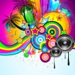 Royalty-Free Stock Immagine Vettoriale: Tropical Event Disco Flyer