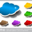 Cloud Computing Speech Bubble — Stock Vector