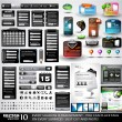 Royalty-Free Stock Imagen vectorial: Web Stuff black Extreme Collection