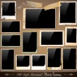 Collection of Vintage Photo Frames - Stock Vector