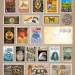 Collection of Vintage Postage Stamps — Vetorial Stock #6709983