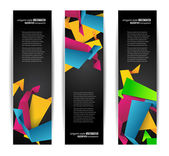 Set of abstract modern header banner — Stock Vector