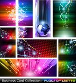 Flow of lights set 5 — Stock Vector