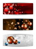 Merry Christmas Elegant Banners — Stock Vector