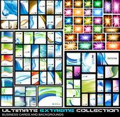 Ultieme extreme verzameling van visitekaartjes — Stockvector