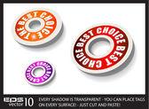Balises de style circulaire de papier rouge — Vecteur