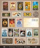 Coleção de selos antigos — Vetorial Stock