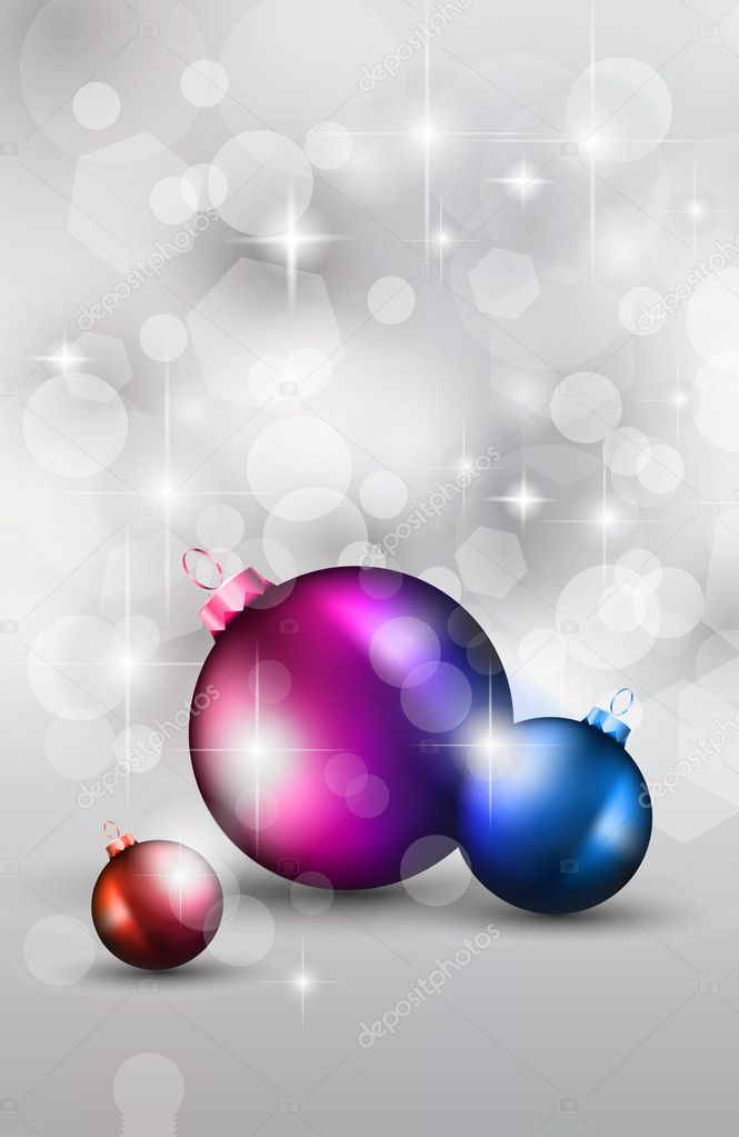 Merry Christmas Elegant Suggestive Background for Greetings Card or Advertising Banner  Stock Vector #6707257