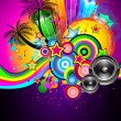 Royalty-Free Stock Vectorielle: Tropical Event Disco Flyer