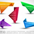 Origami triangle style speech Banner set - Stock Vector
