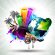 Royalty-Free Stock Imagem Vetorial: Attractive Disco Flyer Background