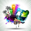 Royalty-Free Stock Imagen vectorial: Attractive Disco Flyer Background