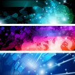 Flow of lights header backgrounds — Imagen vectorial