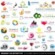 Mega collection of 2D and 3D quality design elements - Stock Vector