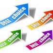 Set of &quot;Best Choice&quot; arrow sticker - Imagens vectoriais em stock
