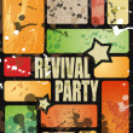 Retro' revival disco party flyer — Stock Vector
