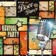 Stock Vector: Retro' revival disco party flyer