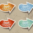 Distressed Arrows Speech bubbles set  — Stock Vector