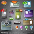 Set of Various Design Elements for Web - Stock Vector