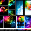 Abstract Business Card Collection: Flow of lights 2 — Stock Vector