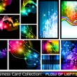 Abstract Business Card Collection: Flow of lights 2 — Stock Vector #6716912