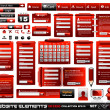 Web design elements extreme collection 2 BlackRed Inferno - Stock Vector