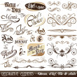 Stock Vector: Vintage Decorative Calligraphic Elements