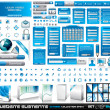 Web Elements EXTREME collection 2 All Blue — Imagen vectorial