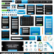 Web design elements extreme collection 2 BlackBlue  — Imagen vectorial