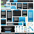 Web design elements extreme collection 2 BlackBlue - Stock Vector